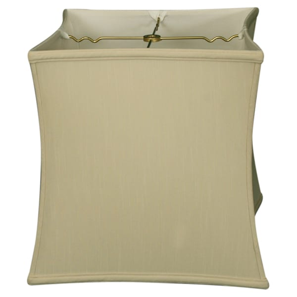 Royal Designs Square Cube Bell Basic Lamp Shade, Beige, 14 x 15 x 14