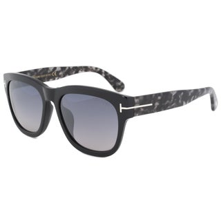 Tom Ford FT0412 Unisex Black Frame Grey Gradient Lens Sunglasses