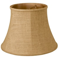 Royal Designs Modified Bell Lamp Shade, Burlap, 9 x 14 x 10.5