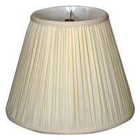 Royal Designs Deep Empire Gather Pleat Basic Lamp Shade, Antique Gold, 9 x 16 x 12.25