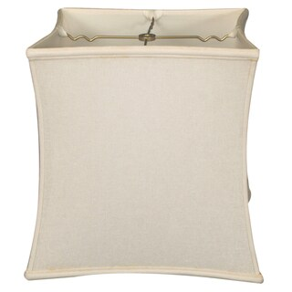 Royal Designs Square Cube Bell Basic Lamp Shade, Linen White, 12 x 13 x 13