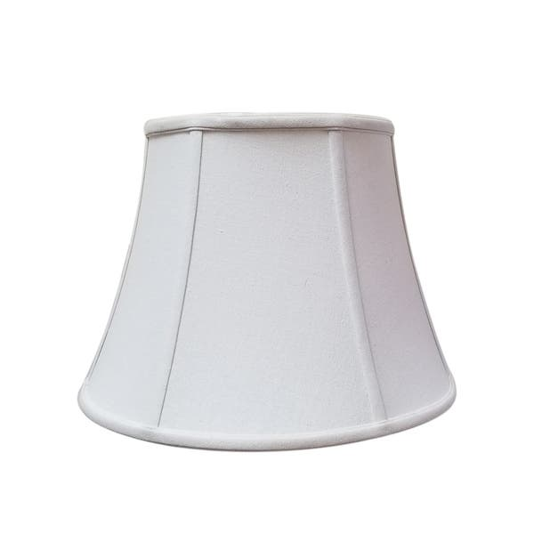 Royal Designs Modified Bell Linen White Lamp Shade 7 5 X 12 X 9 5 On Sale Overstock 14800864