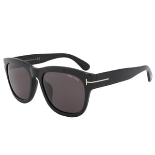 Tom Ford FT0412 Unisex Black Frame Grey Lens Sunglasses