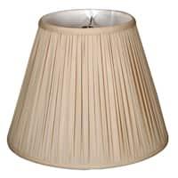 Royal Designs Deep Empire Gather Pleat Basic Lamp Shade, Beige, 9 x 16 x 12.25