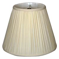 Royal Designs Deep Empire Gather Pleat Basic Lamp Shade, Eggshell 8 x 14 x 11
