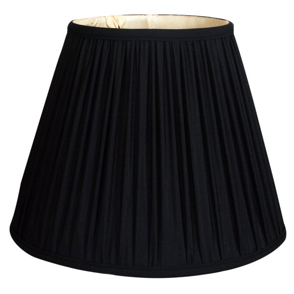 Royal Designs Deep Empire Gather Pleat Basic Lamp Shade, Black, 8 x 14 x 11