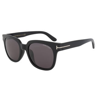 Tom Ford FT0407 Unisex Black Frame Grey Lens Sunglasses