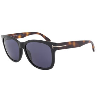 Tom Ford Cooper FT0395 Unisex Black Frame Dark Blue Grey Lens Sunglasses