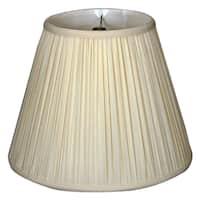 Royal Designs Deep Empire Gather Pleat Basic Lamp Shade, Eggshell, 6 x 12 x 9.25