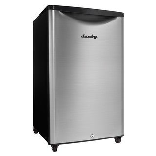 Danby DAR044A6BSLDBO 4.4CF Outdoor Compact Refrigerator Stainless Steel