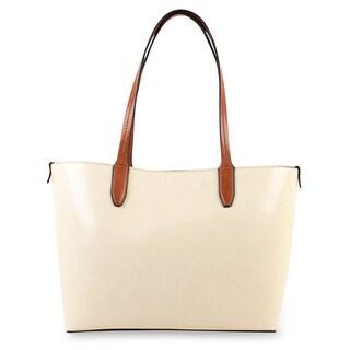 Emilie M. Loren Faux Leather Medium Shoulder Tote Handbag