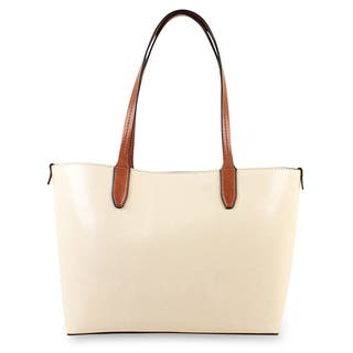 Emilie M. Loren Faux Leather Medium Shoulder Tote Handbag|https://ak1.ostkcdn.com/images/products/14800929/P21320211.jpg?impolicy=medium