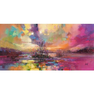 'Soft Evening Rays' by Scott Naismith Gel Brush Finished Gallery-Wrapped Canvas Wall Art, Ready to Hang