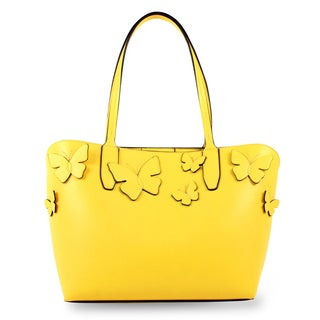 Emilie M. Kimona Butterfly Applique Medium Tote Handbag