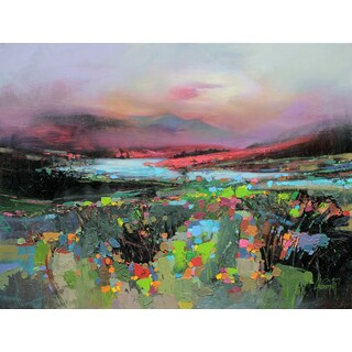 'Floral View' by Scott Naismith Gel Brush Finished Gallery-Wrapped Canvas Wall Art, Ready to Hang