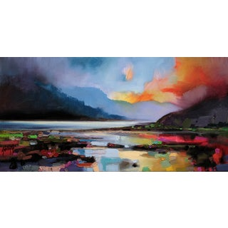 'Hills around the Lake' by Scott Naismith Gel Brush Finished Gallery-Wrapped Canvas Wall Art, Ready to Hang