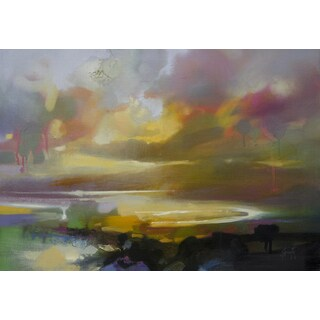 'Pond' by Scott Naismith Gel Brush Finished Gallery-Wrapped Canvas Wall Art, Ready to Hang
