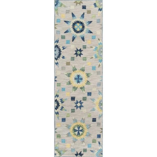 Momeni Summit Grey Hand-Hooked Runner Rug (2'3 X 7'6)