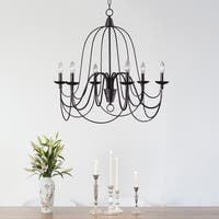 Alma 6-light Bronze Chandelier (As Is Item)