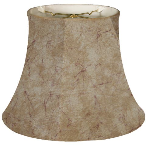 Royal Designs Modified Bell Faux Rawhide Lamp Shade, 10.5 x 17 x 13.5