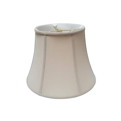 Royal Designs Modified Bell Linen Beige Lamp Shade, 10.5 x 17 x 13.5