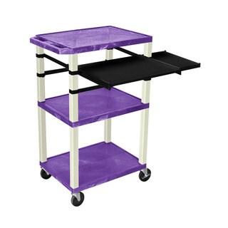 Offex OF-WTPSLP42PE Putty Legs 42-inch 3-shelf Pullout A/V Cart