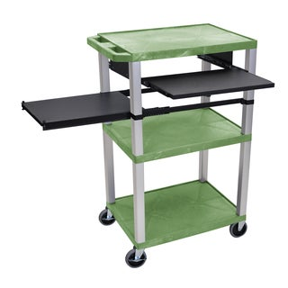Offex Green Plastic Multipurpose Wheelable Cart