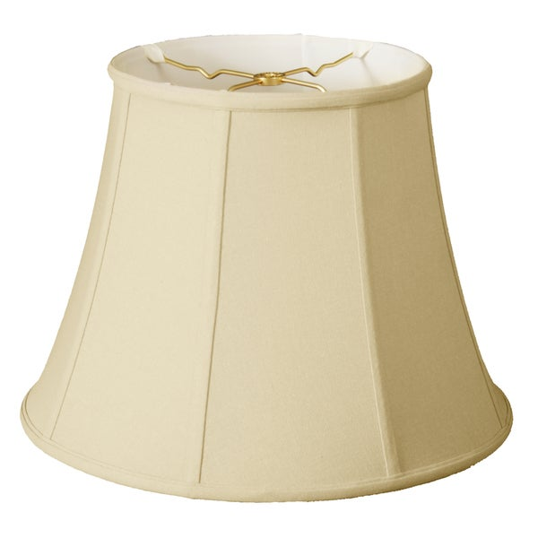 Royal Designs Modified Bell Lamp Shade, Linen Eggshell, 10 x 16 x 12.5