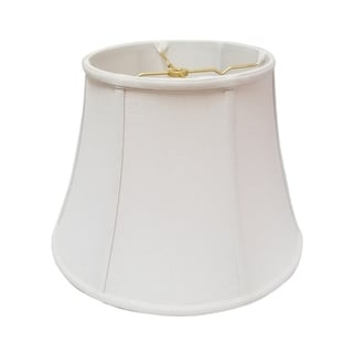 Royal Designs Modified Bell Lamp Shade, Linen White, 10 x 16 x 12.5