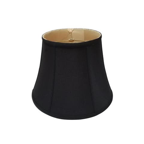 Royal Designs Modified Bell Black Lamp Shade, 9 x 14 x 10.5