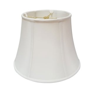 Royal Designs Modified Bell Lamp Shade, White, 9.5 x 15 x 11.5