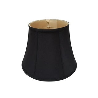 Royal Designs Modified Bell Lamp Shade, Black, 9.5 x 15 x 11.5