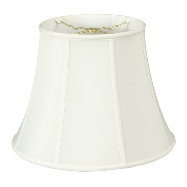 Royal Designs Modified Bell Lamp Shade, White, 9 x 14 x 10.5