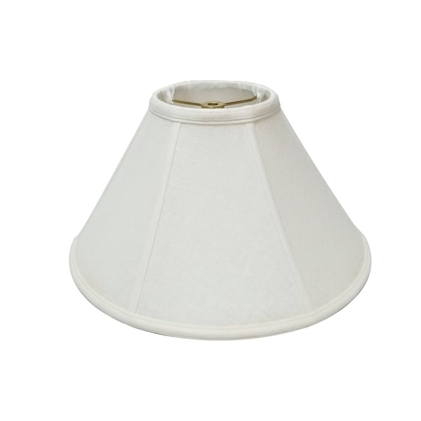 Royal Designs Coolie Empire Linen White Lamp Shade, 6 x 18 x 11.5