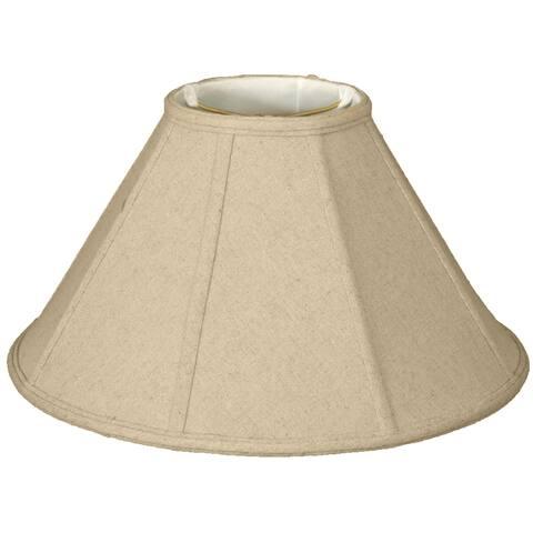 Royal Designs Coolie Empire Linen Eggshell Lamp Shade, 6 x 18 x 11.5