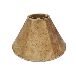 Royal Designs Empire Lamp Shade, Faux Rawhide, 5 x 14 x 9.5