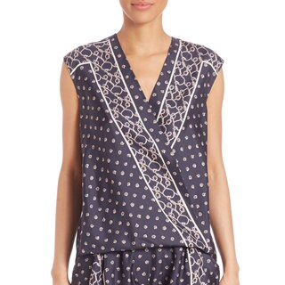 3.1 Phillip Lim Navy Silk Drape Top (5 options available)