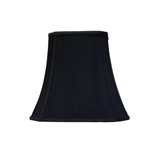 Black Silk with Gold Interior 14 Inch Rectangle Lampshade Replacement