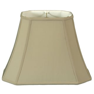Royal Designs Rectangle Cut Corner Lamp Shade, Beige, 8 x 12 x 14 x 20 x 14.25