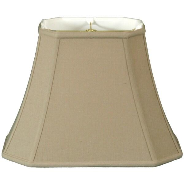 Royal Designs Rectangle Cut Corner Lamp Shade, Linen Beige, 7 x 10 x 12.25 x 18 x 13.25