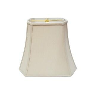 Royal Designs Rectangle Cut Corner Lamp Shade, Beige, 7 x 10 x 12.25 x 18 x 13.25