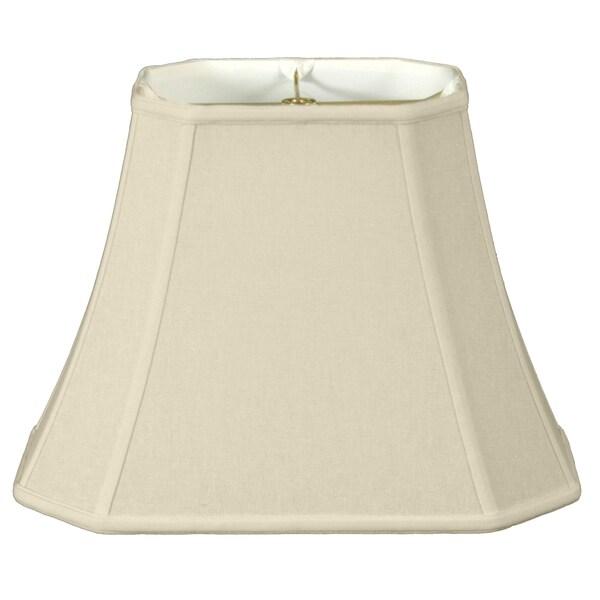 Royal Designs Rectangle Cut Corner Lamp Shade, Linen Eggshell, 7 x 9 x 10.25 x 16 x 12.25