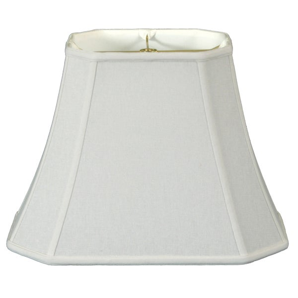 Royal Designs Rectangle Cut Corner Lamp Shade, Linen White, 7 x 9 x 10.25 x 16 x 12.25