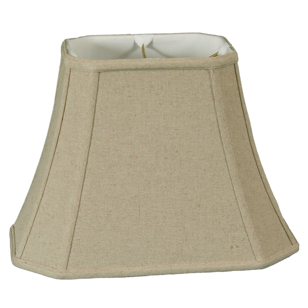 Royal Designs Rectangle Cut Corner Lamp Shade, Linen Cream, 7 x 9 x 10.25 x 16 x 12.25