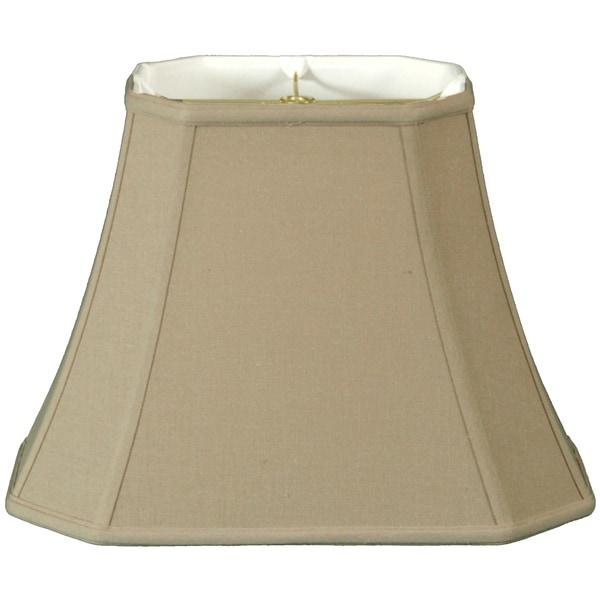 Royal Designs Rectangle Cut Corner Lamp Shade, Linen Beige, 7 x 9 x 10.25 x 16 x 12.25