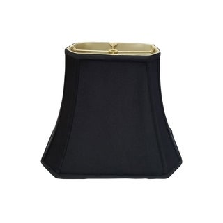 Royal Designs Rectangle Cut Corner Lamp Shade, Black, 7 x 9 x 10.25 x 16 x 12.25