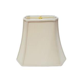 Royal Designs Rectangle Cut Corner Lamp Shade, Beige, 7 x 9 x 10.25 x 16 x 12.25