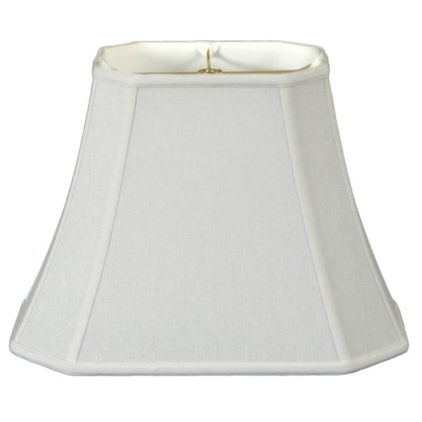 Royal Designs Rectangle Cut Corner Lamp Shade, Linen White, 6 x 8 x 9 x 14 x 10.5