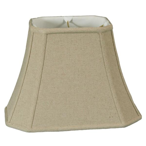 Royal Designs Rectangle Cut Corner Lamp Shade, Linen Cream, 6 x 8 x 9 x 14 x 10.5