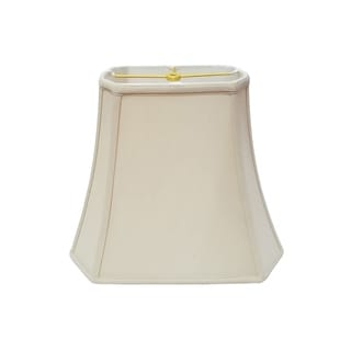 Royal Designs Rectangle Cut Corner Lamp Shade, Beige